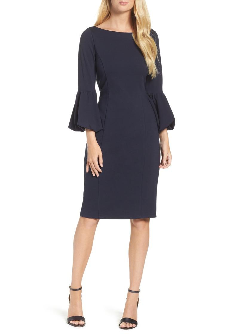 Eliza J Bell Sleeve Sheath Dress