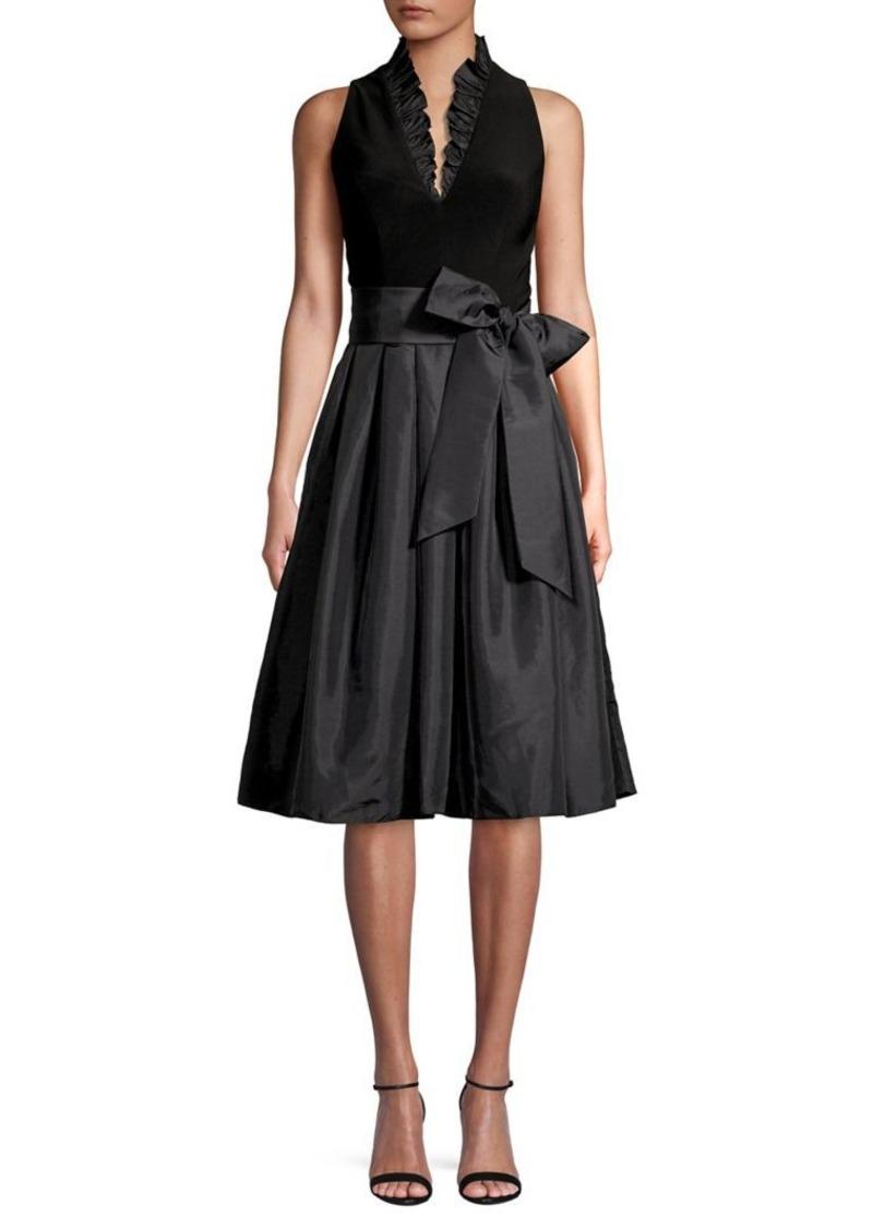 Eliza J Ruffle V-Neck Dress