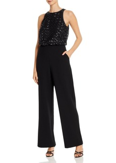 Eliza J Sequin-Embellished Jumpsuit