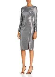 Eliza J Sequin Long-Sleeved Sheath Dress