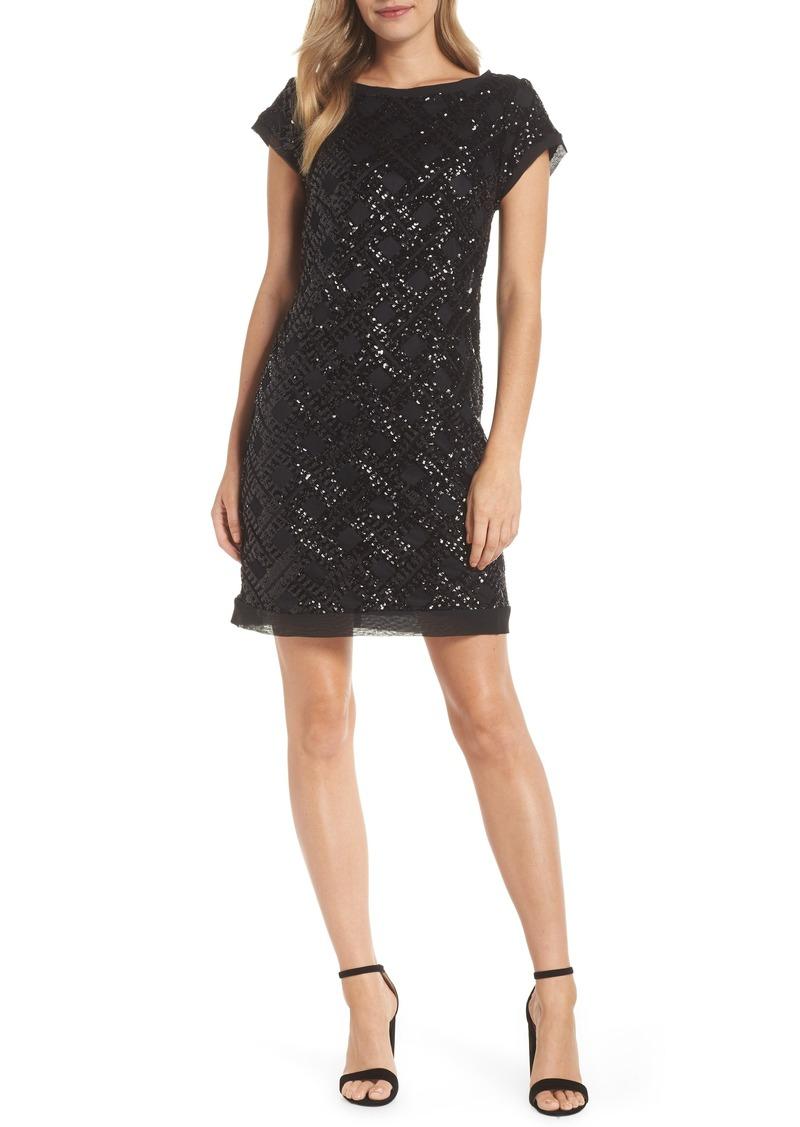 Eliza J Sequin Sheath Dress (Regular & Petite)