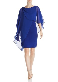 Eliza J Sheer Overlay Dress