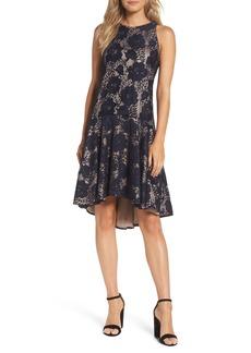 Eliza J Sleeveless Lace Drop Waist High/Low Dress
