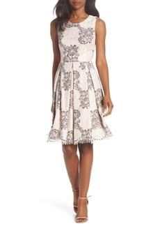 Eliza J Sleeveless Lace Fit & Flare Dress (Regular & Petite)