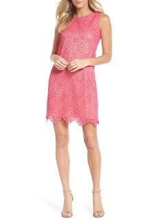 Eliza J Sleeveless Lace Shift Dress (Regular & Petite)