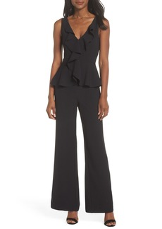 Eliza J Sleeveless Peplum Jumpsuit