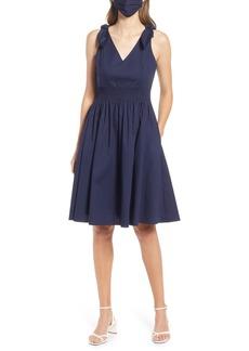 Eliza J Smocked Cotton Dress