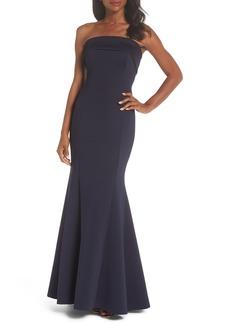Eliza J Strapless Gown