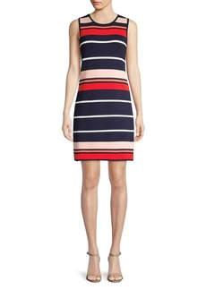 Eliza J Striped A-Line Dress