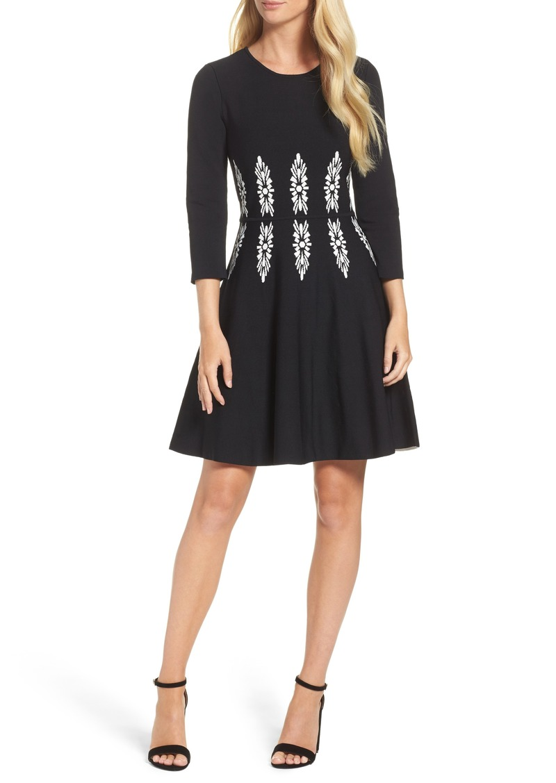 432b81b35 Eliza J Eliza J Three-Quarter Sleeve Fit & Flare Dress | Dresses