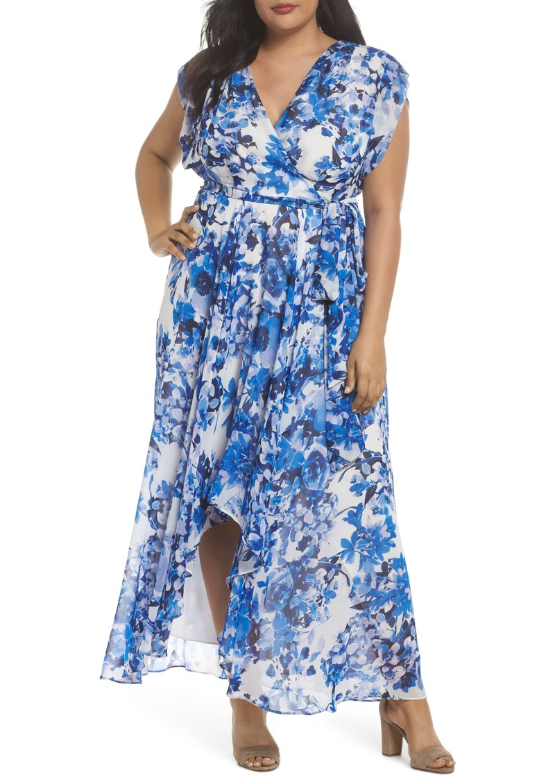 6634a0574f76 Eliza J Eliza J Tie Waist Maxi Dress (Plus Size)