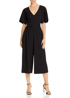 Eliza J V-Neck Cropped Jumpsuit