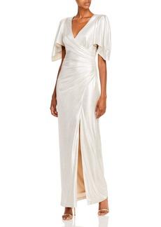 Eliza J V-Neck Evening Gown