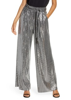 Eliza J Wide Leg Sequin Pants