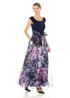 Eliza J Women's Ballgown with Floral Skirt