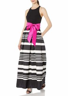 Eliza J Women's Ballgown with Stripe Skirt