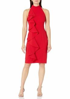Eliza J Women's Bodycon Halter Dress with Ruffle Detail