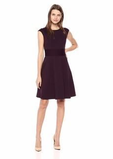 Eliza J Women's Cap Sleeve Fit and Flare Dress