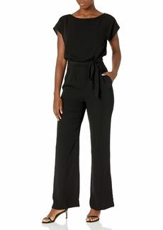 Eliza J Women's Cap Sleeve Wide Leg Jumpsuit