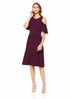 e0e65085 Eliza J Women's Cold Shoulder Fit and Flare Dress XL