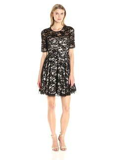 Eliza J Women's Fit and Flare Lace Dress