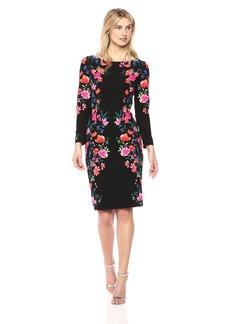 Eliza J Women's Floral Midi-Length Sheath Dress