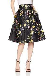 Eliza J Women's Floral Print A-Line Pleated Skirt