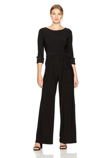 Eliza J Women's Jumpsuit with Beaded Cuffs