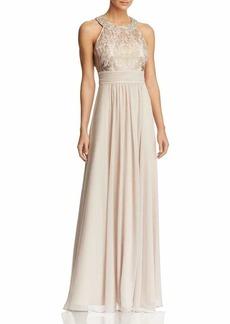Eliza J Women's Lace Bodice Dress with Chiffon Waistband-Skirt