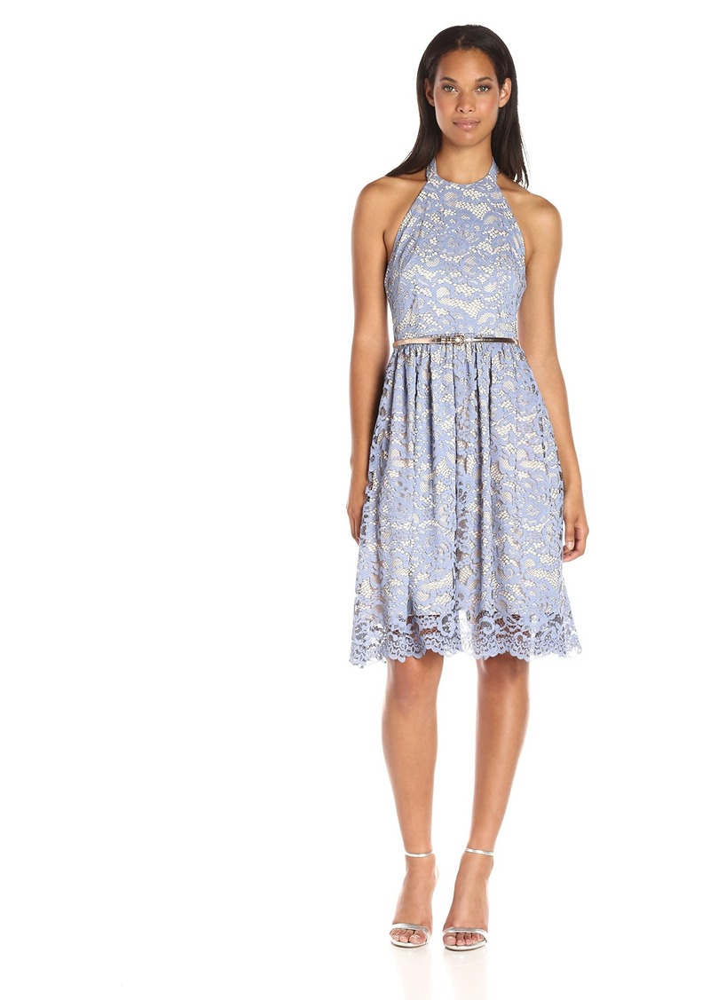 Eliza J Women's Lace Halter Dress