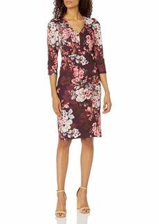 Eliza J Women's Long Sleeve Sheath Dress with Ruching Detail