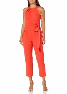 Eliza J Women's Petite Halter Jumpsuit RED 4P