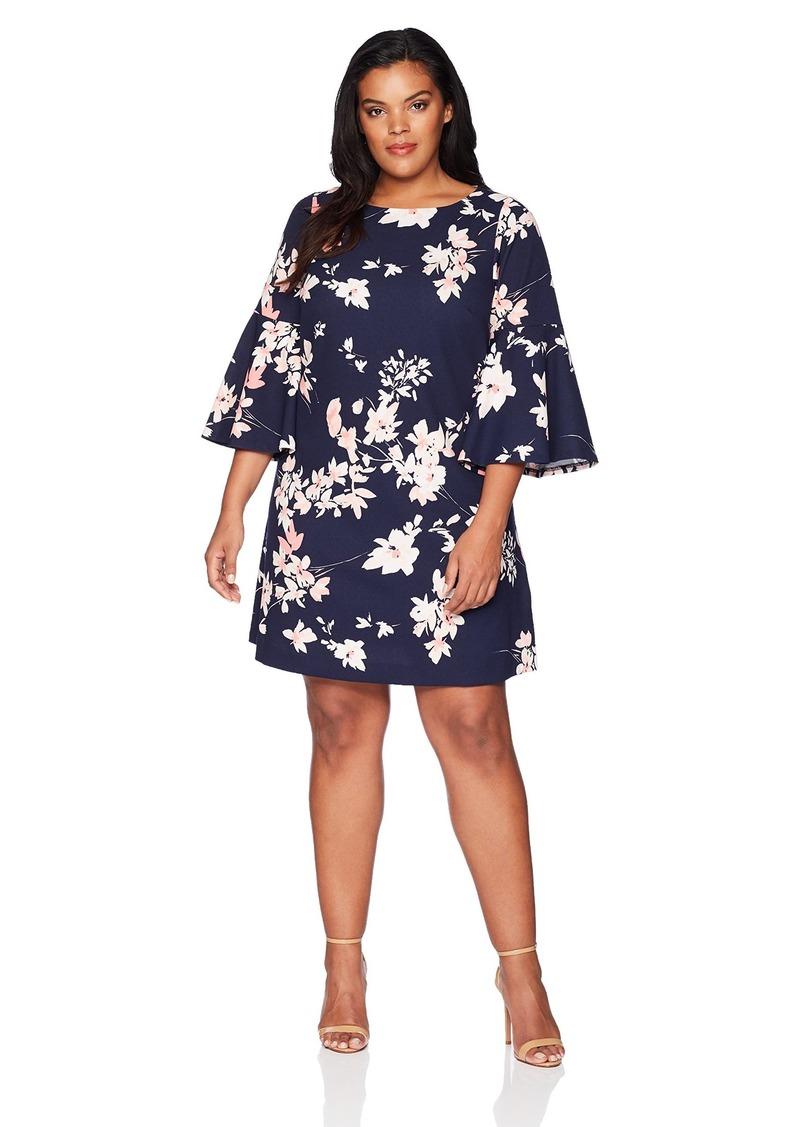 8661111b Eliza J Eliza J Women's Plus Size Bell Sleeve Shift Dress | Dresses