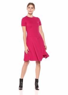 Eliza J Women's Plus Size Drop Waist Cap Sleeve Dress  16W