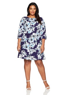 Eliza J Women's Plus Size Floral Drop Waist Dress  14W