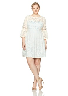 Eliza J Women's Plus Size Lace Fit & Flare