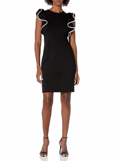 Eliza J Women's Ruffle Sleeve Sheath Dress