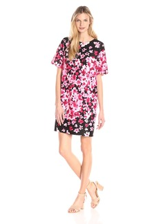 Eliza J Women's Scuba Floral Shift Dress