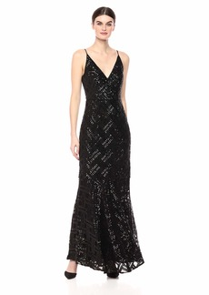 Eliza J Women's Sequin V-Neck Gown