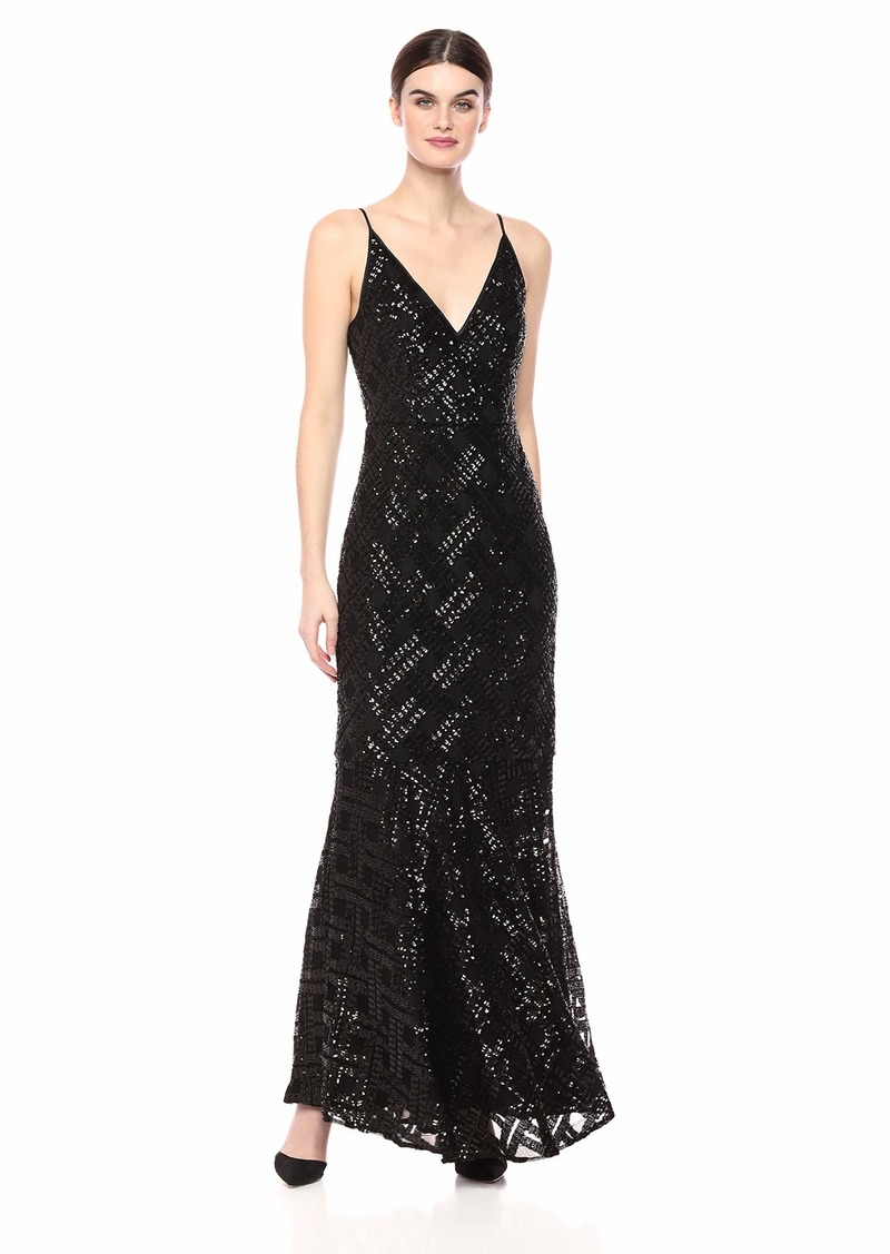 Eliza J Women's Sequin V-Neck Gown