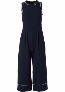 Eliza J Women's Sleeveless Cropped Jumpsuit with Piping