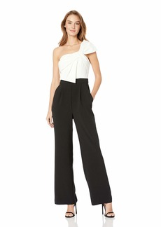 Eliza J Women's Sleeveless Shoulder Bow Jumpsuit