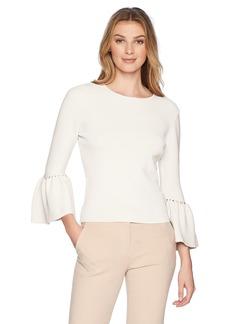 Eliza J Women's Sweater Bell Sleeve Top