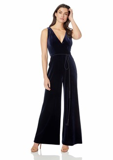 Eliza J Women's V-Neck Wide Leg Jumpsuit