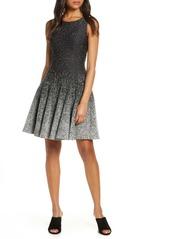 Eliza J Ombre Dot Fit & Flare Sweater Dress (Petite)