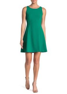 Eliza J Sleeveless Crepe Fit and Flare Dress