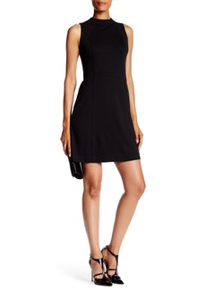 Eliza J Sleeveless Mock Neck Seamed Shift Dress