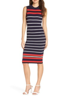 Eliza J Striped Sheath Sweater Dress