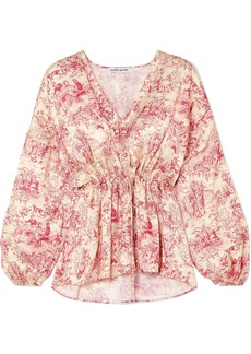 Elizabeth and James Angela Printed Silk Blouse