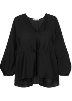 Elizabeth and James Angela Ruched Voile Blouse